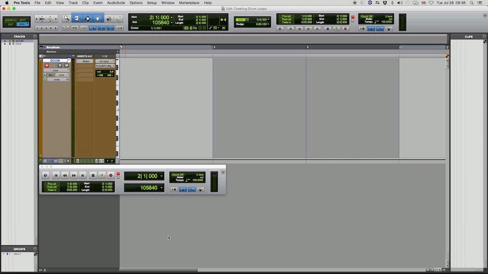 Selecionar loop para gravação