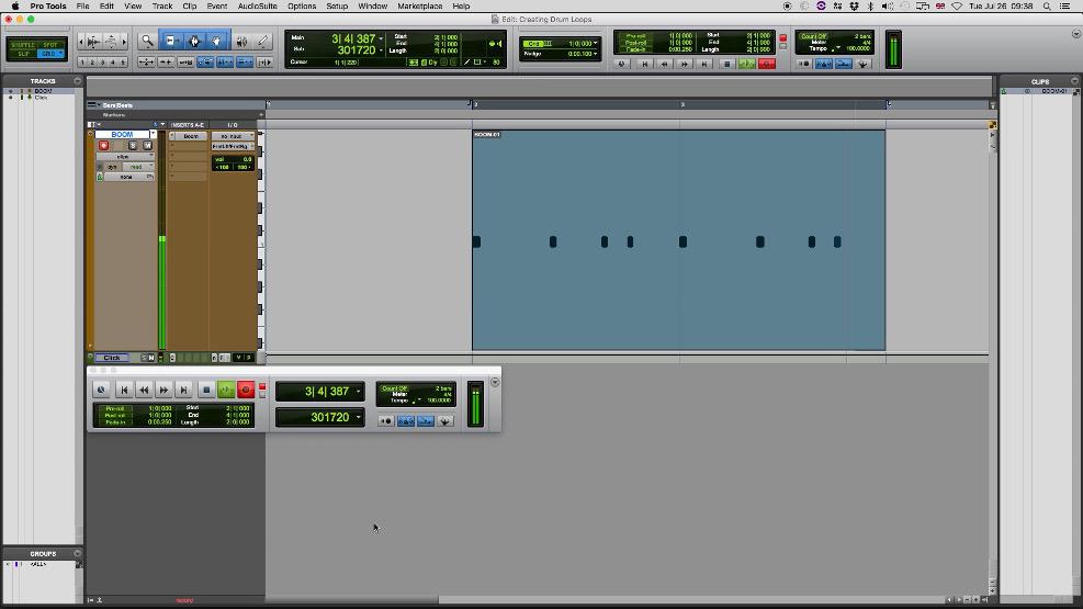 Primeira iteração da gravação