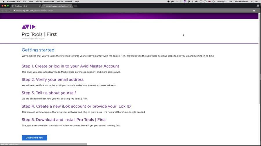 O passo a passo no site da Avid.