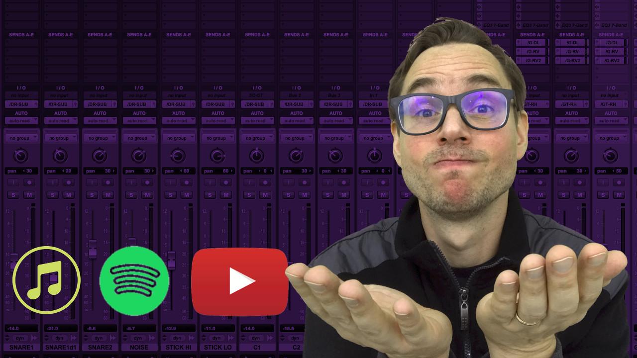 Masterização para streaming - como acertar o loudness para Spotify, iTunes e YouTube
